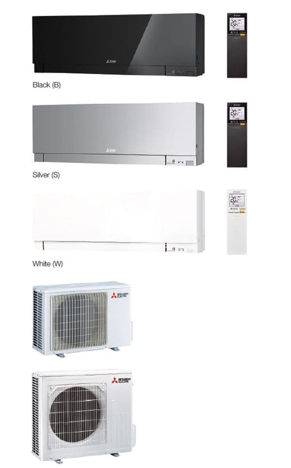 Mitsubishi Electric Air Conditioning MSZ-EF25VGK ZEN Wall Mounted R32 2.5Kw/9000Btu A+++ 240V~50Hz